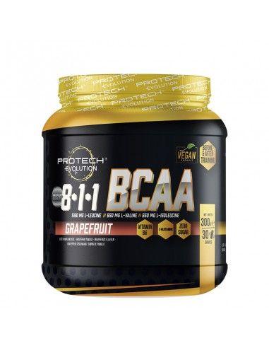bcaa 8.1.1 protech pour soutenir l'effort musculaire pendant vos séances avec un haut dosage de leucine