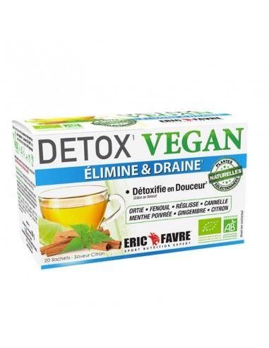 La tisane drainante detox vegan élimine les graisses et draine l' excès d'eau dans le corps