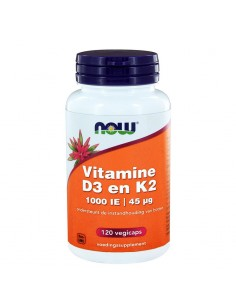 vitamine D3 K2 Now Foods