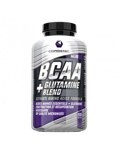 un mélange de bcaa et de glutamine pour favoriser la récupération de la marque francaise de compléments alimentaires corgenic
