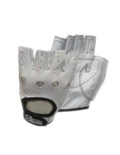 gants scitec nutrition cuir blanc