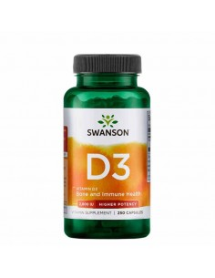 la vitamine D3 Swanson renforce votre trame osseuse