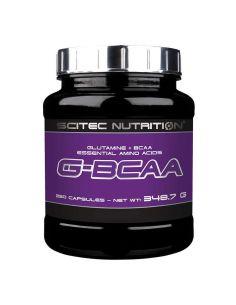 bcaa et glutamine au format gélule pour améliorer votre récupération de la marque scitec nutrition