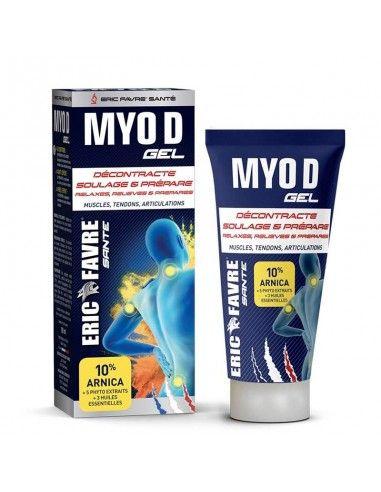gel myo D soulage les muscles, décontracte les muscles et prépare les muscles à l'effort