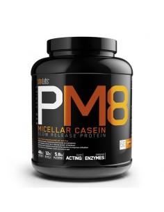 une caséine très riche en acides aminés avec une diffusion très lente pour éviter le catabolisme musculaire.
