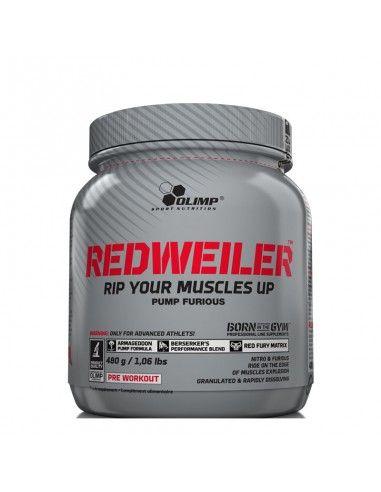 redweiler de la marque olimp nutrition permet de booster vos entrainements. C'est un préworkout très puissant
