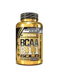 bcaa 8.1.1 en gélules avec un ratio en leucine important, primordial en musculation afin d'améliorer la récupération et la prise