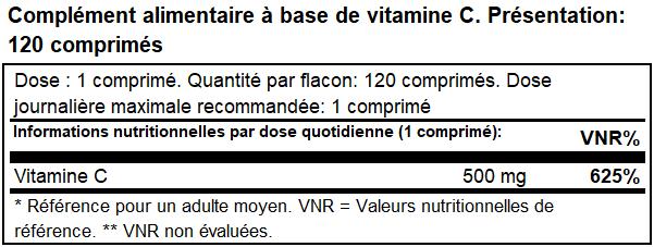 vitamine C500 biotech usa