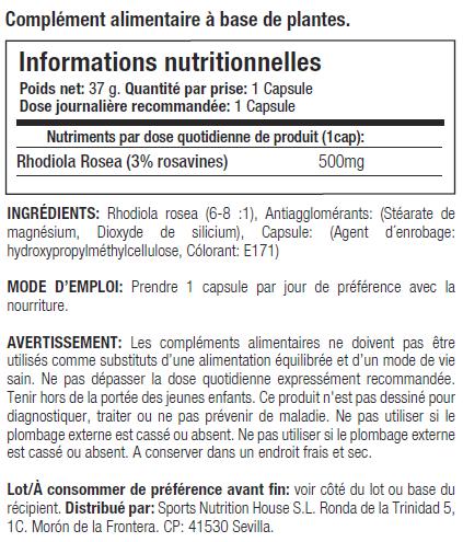rhodiola starlabs nutrition